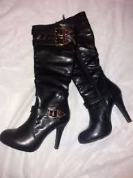 s heeled boots uk zipped knee high fit high heel boots uk size 3