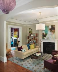 Cathedral Ceilings In Living Room by Rachel Ray Cookware In Living Room Transitional With Door Molding