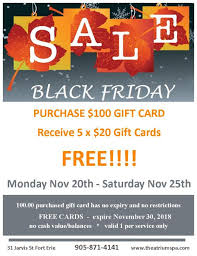 gift card sale black friday gift card sale atrium spa