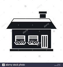 one storey house with two windows icon stock vector art