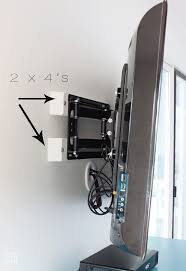installing a swivel tv mount and hiding tv cords cable box in