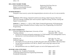 Undergraduate Sample Resume by Generator Test Engineer Sample Resume Resume Cv Cover Letter