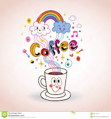 cute cartoon coffee cup illustration royalty free stock