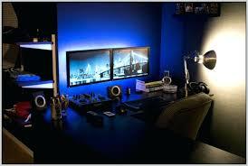 desk best computer desk for dual monitors dual monitor corner