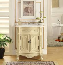 adelina 27 inch antique beige finish bathroom vanity