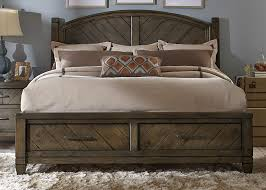 King Storage Bed Frame Buy Modern Country King Storage Bed By Liberty From Www