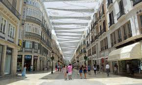 shoing canap shoppers canopy covered pedestrian shopping in malaga