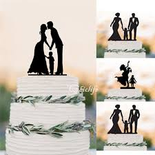 family wedding cake toppers wedding cake topper silhouette groom and with boy