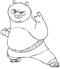 kung fu panda coloring pages po