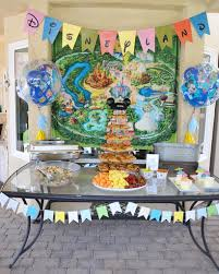vintage disneyland baby shower smash cake
