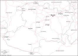 Map Of Michoacan Mexico by