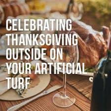 celebrate thanksgiving outside on your artificial turf