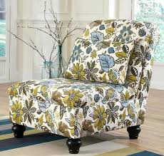 fabric covers for dining chairs dining chairs armless accent chair with floral fabric cover