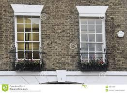 English Tudor Style Old English Tudor Style Decor White Windows Stock Photo Image