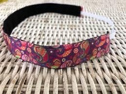 no slip headbands paisley headband adjustable headband no slip headband womens