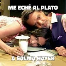 Salma Hayek Meme - eugenio derbez y salma hayek traen un proyecto entre manos el