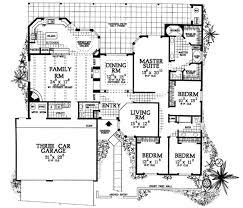 santa fe style house plans adobe southwestern style house plan 4 beds 3 baths 2945 sq ft