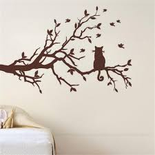 compare prices tree branches wall art online shopping buy low cat tree branch birds vinyl wall sticker art decorative stickers glass window