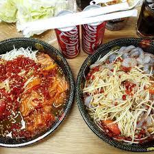 cuisine ww wongnai on แซ บกว าน ม อ กไหม ตำถาดแซลมอน ตำถาดก งสดดด