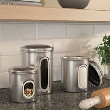 kitchen canisters stainless steel stainless steel canisters wayfair