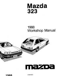 complete 1988 mazda 323 workshop manual belt mechanical