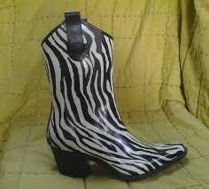 womens zebra boots corkys womens zebra print cowboy boots sz 6 black white