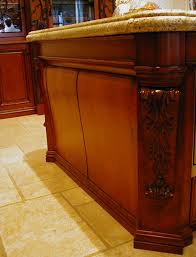 incredible rectangle shape kitchen island corbels with brown color