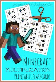 minecraft multiplication flashcards free printables