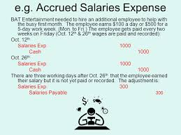 5 day work week recap accrued revenue u2013 earned but not recorded nor cash received