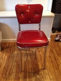 Retro Red Kitchen Chairs - 4 new 1950 u0027s retro style chrome metal red vinyl bistro kitchen