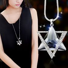 crystals fashion necklace images Fashion long section six star sweater chain necklace fine jewelry jpg