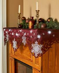 Lighted Snowflakes Outdoor by 12 Led Lighted Snowflake Table Mantel Scarf Cutout Border
