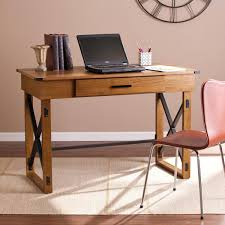 Sauder Harbor View Computer Desk With Hutch Salt Oak by Desks Nebraska Furniture Mart