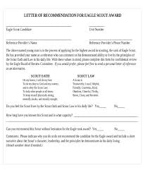 10 sample eagle scout recommendation letter free sample