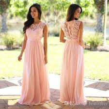 Wedding Guest Dresses Vintage Lace Long Bridesmaid Dresses 2017 Spring Jewel Neck A Line