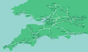 Plymouth England Map by Great Western Train Rail Maps