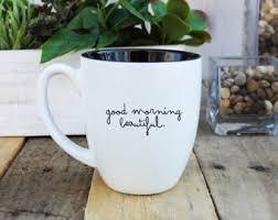 Fancy Coffee Mugs Large Coffee Mug Etsy