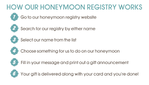 wedding honeymoon registry gift registry eat drink and be married