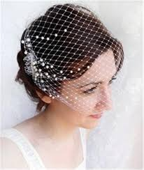 communion hair accessories 2015 hot selling white birdcage veils pearl wedding hair