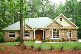 southern ranch style house plans front porch brick prepossessing