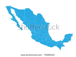 map of mexuco mexico country illustration free vector stock