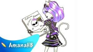 speed drawing catrine demew monster hd