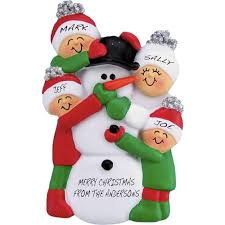 snowman family personalized ornament gifts