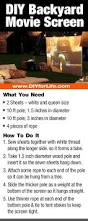 how to build a diy backyard movie screen backyard movie screen