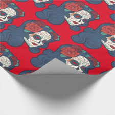 skull wrapping paper sugar skull wrapping paper zazzle