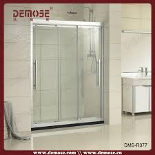 curved glass shower door 3 panel sliding doors spare parts tempered shower enclosure buy