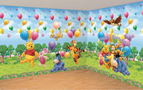 kids bedroom winnie the pooh kid wallpaper decor ideas for kid