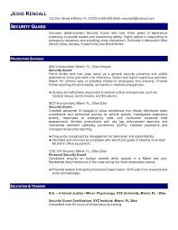 Best Job Objective For Resume by Sample Resume Of Security Guard Gallery Creawizard Com