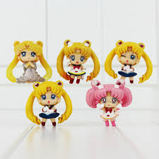 5pcs set sailor moon mercury mars jupiter venus pvc figure toys