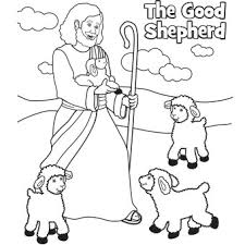 good shepherd easter coloring easter sunday
